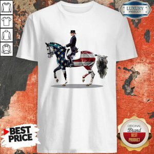 American Flag Dressage Horse Shirt