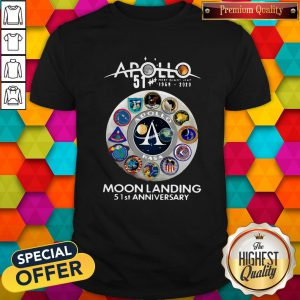 Apollo 1969 2020 Moon Landing 51 St Anniversary Shirt