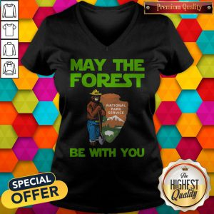 Farmer Bear May The Forest Be With You V-neck