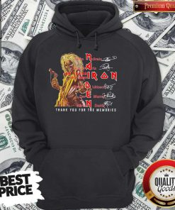 Iron Maiden 45 Years 1975-2020 Thank You For The Memories Signatures Hoodie