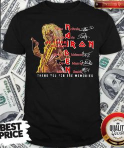 Iron Maiden 45 Years 1975-2020 Thank You For The Memories Signatures Shirt
