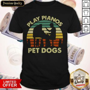 Play Pianos Pet Dogs Vintage Shirt
