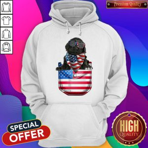 Portuguese Water Pocket American Flag Independence Day Hoodie