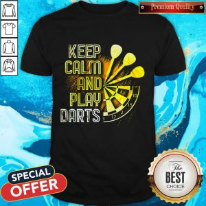 Awesome Keep Calm And Play Darts Shirt