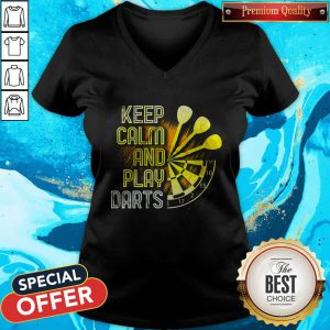 Awesome Keep Calm And Play Darts V-neck