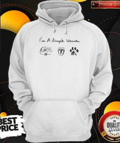 I'm A Simple Woman Camping Flip Flop And Dog Paw Hoodie