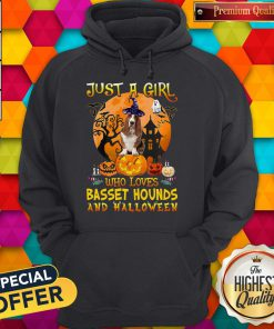 Just A Girl Who Loves Basset Hound And Halloween Pumpkin Hoodie