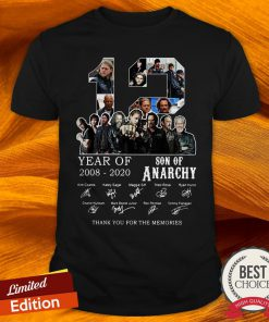 12 Year Of 2008 2020 Son Of Anarchy Signatures Shirt