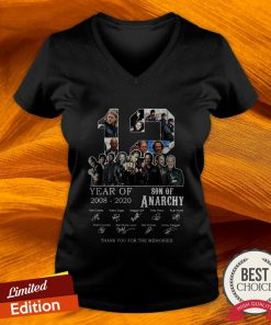 12 Year Of 2008 2020 Son Of Anarchy Signatures V-neck