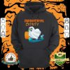 Ghost Cat Purranormal Activity Funny Halloween Hoodie
