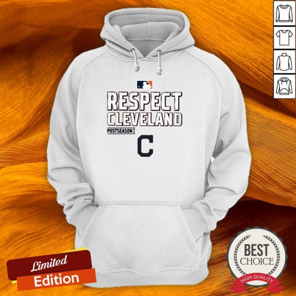 Respect Cleveland Indians Fanatics Branded Red 2020 Postseason Hoodie