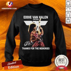 Eddie Van Halen 1955 2020 Thank For The Memories Signature Sweatshirt
