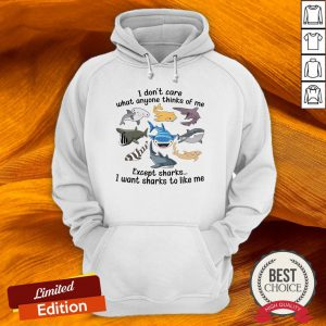 I Don't Care What Anyone Thinks Of Me Except Sharks I Want Sharks To Like Me Hoodie-Design By Versiontee.com