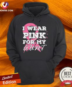 I Wear Pink For My Aunt Breast Cancer Awareness Hoodie