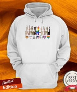 LGBT Hand Human Kind Be Both Heart Hoodie-Design By Versiontee.com
