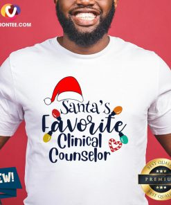 Cute Santa's Favorite Clinical Counselor Christmas Shirt - Design By Versiontee.com