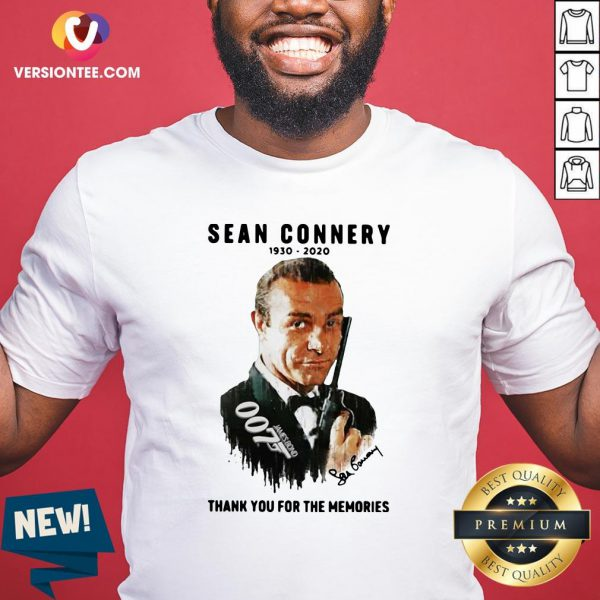 Great Sean Connery 1930 2020 Thank You For The Memories Shirt - Design By Versiontee.com