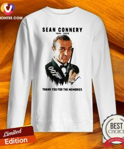 Great Sean Connery 1930 2020 Thank You For The Memories Sweatshirt- Design By Versiontee.com