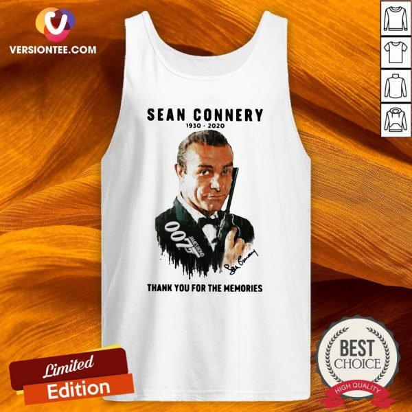 Great Sean Connery 1930 2020 Thank You For The Memories Tank Top - Design By Versiontee.com