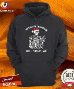 Happy When You're Dead Inside But It's Christmas Hoodie - Design By Versiontee.com