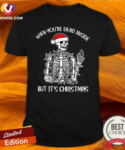Happy When You're Dead Inside But It's Christmas Shirt - Design By Versiontee.com