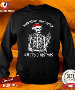 Happy When You're Dead Inside But It's Christmas Sweatshirt - Design By Versiontee.com