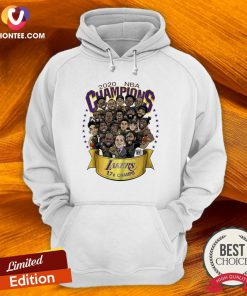 Hot 2020 NBA Champions Los Angeles Lakers 17 Champs Cartoon Hoodie - Design By Versiontee.com