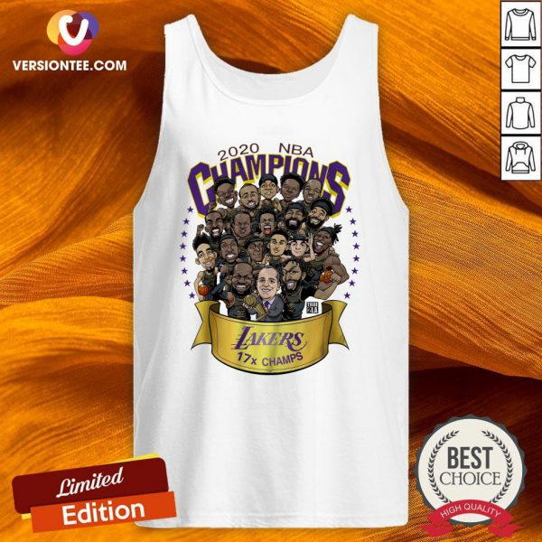 Hot 2020 NBA Champions Los Angeles Lakers 17 Champs Cartoon Tank Top - Design By Versiontee.com