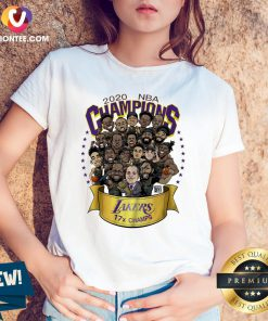 Hot 2020 NBA Champions Los Angeles Lakers 17 Champs Cartoon V-neck - Design By Versiontee.com
