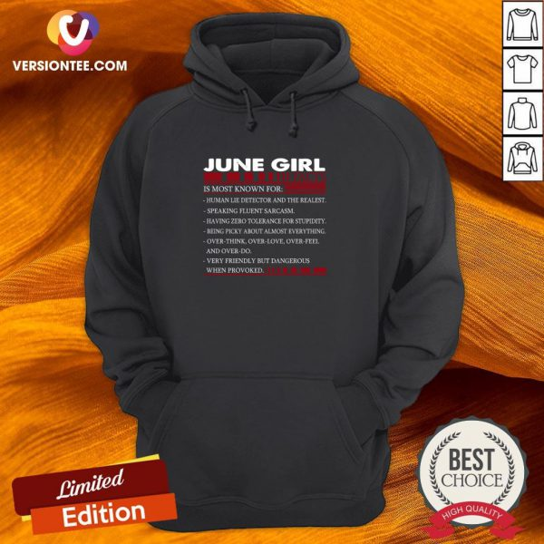 Perfect June Girl Facts Is Most Known For Hoodie - Design By Versiontee.com