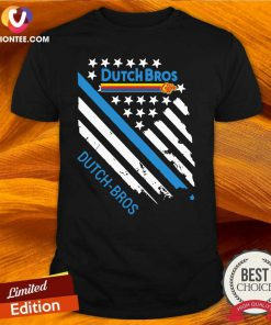 Dutch Bros Coffee American Flag Shirt - Design By Versiontee.com