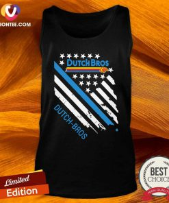 Dutch Bros Coffee American Flag Tank Top - Design By Versiontee.com