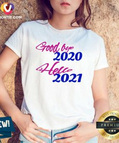 Good Bye 2020 Hello 2021 Happy New Year V-neck - Design By Versiontee.com