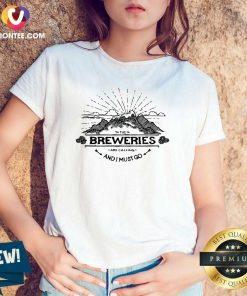 Awesome Breweries Are Calling And I Must Go Mountain V-neck