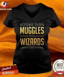 Books Turn Muggles Into Wizards V-neck - Design By Versiontee.com