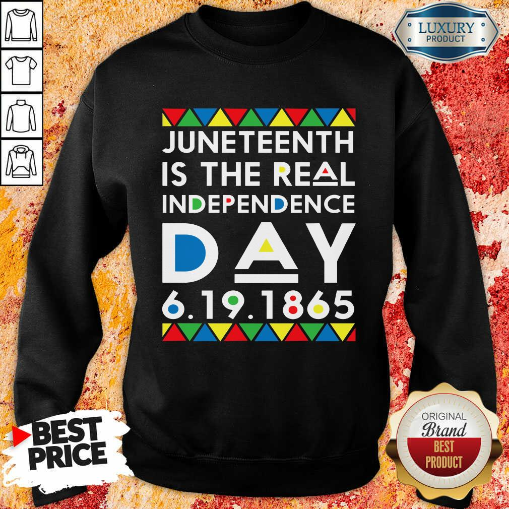 Top Juneteenth Is The Real Independence Day Sweatshirt